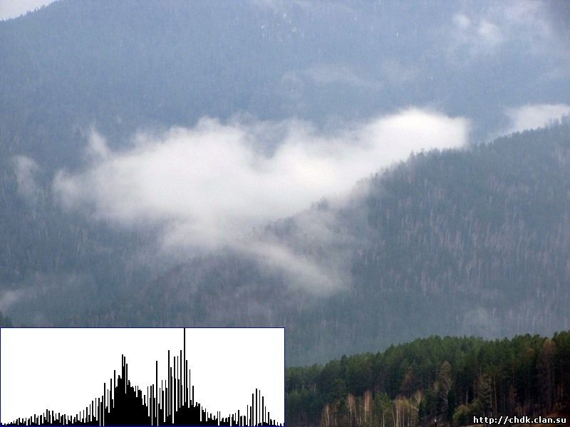 Постеризация при увеличении контраста снимка